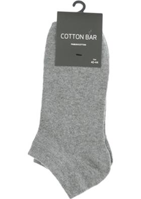 Cotton Bar Gri Çorap