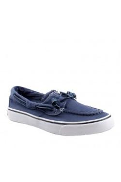 Sperry Sts15366 Bahama 2-eye Washed Canvas Navy - NAVY
