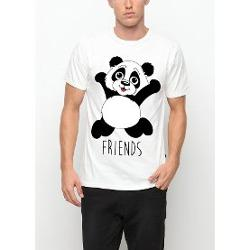 Köstebek (Friends) Panda Best Friends Erkek(Unisex) T-Shirt