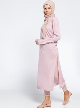 Everyday Basic Triko Tunik - Pembe