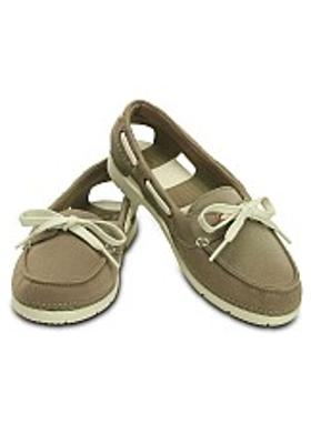 Crocs Beach Line Boat Shoe Mix - Khaki-Stucco