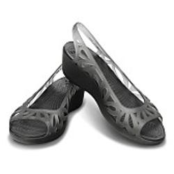 Crocs Adrina Mini Wedge - Black-Black