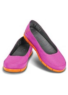 Crocs Stretch Sole Flat Women - Vibrant Violet-Orange