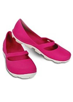 Crocs Duet Sport Mary Jane - Fuchsia-White