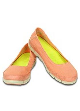 Crocs Stretch Sole Flat Women - Melon-Stucco
