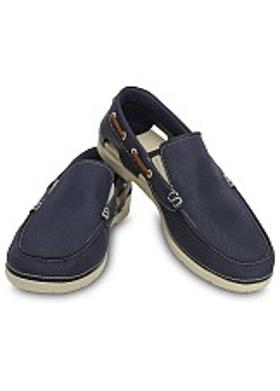 Crocs Beach Line Boat Slip On - Navy-Stucco