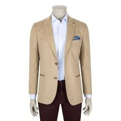 Tween Slim Fit Camel Ceket Kumas