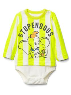 Gap babyGap | Disney Baby Dumbo grafik desenli body