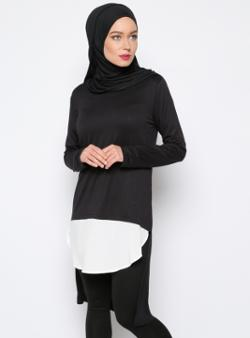 Everyday Basic Garnili Tunik - Siyah