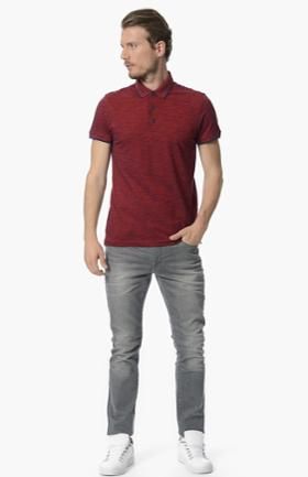 Network Bordo Polo Yaka Tshirt