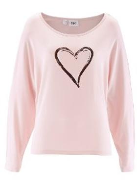 Bonprix bpc bonprix collection Uzun Kollu T-Shirt - Pembe
