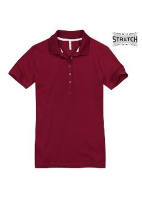 Cottonland KIZZY Kadın Polo Pike Stretch TShirt BORDO