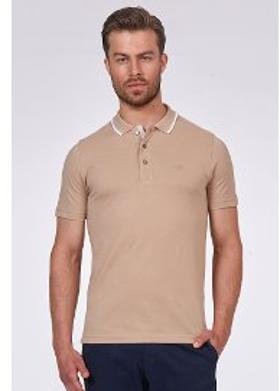 Hemington Erkek Camel Polo Yaka T-Shirt