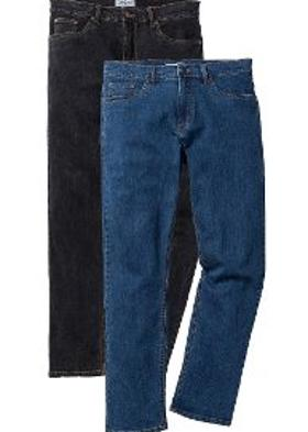Bonprix Streç Jean Pantolon Regular Fit Straight (2'li Paket) - Mavi