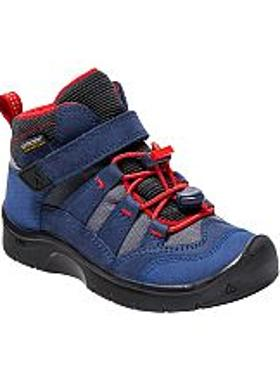 Keen Hikeport Mid WP Cırtlı Çocuk Bot - Dress Blues-Fiery Red