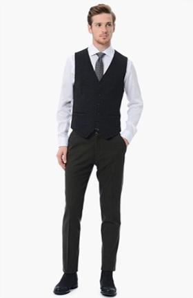 Network Haki Slim Fit Pantolon