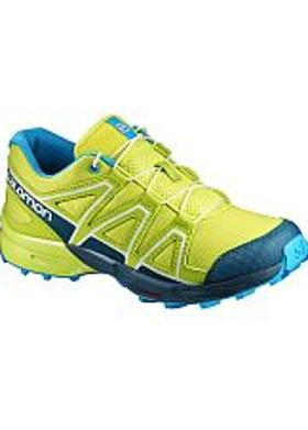 Salomon Speedcross J - Lime Punch-Reflecting Pond-Hav