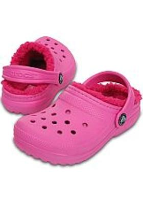 Crocs Classic Lined Clog Kids - Party Pink-Candy Pink