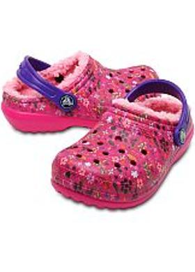 Crocs Classic Lined Graphic Clog Kids - Candy Pink-Peony