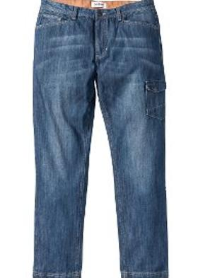 Bonprix Kargo Cepli Jean Pantolon Regular Fit STRAIGHT - Mavi