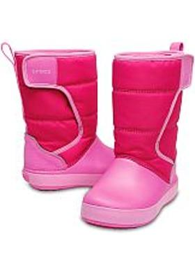 Crocs LodgePoint Snow Boot Kids - Candy Pink-Party Pink