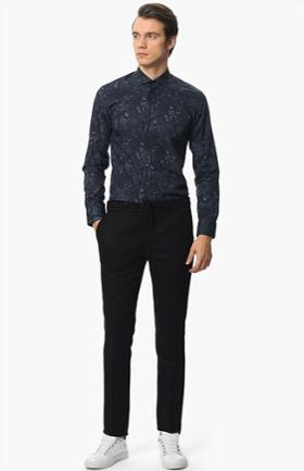 Network Siyah Slim Fit Pantolon