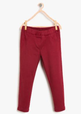 Koton Normal Bel Pantolon Bordo