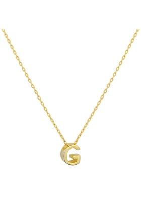 Gimora G Initial Necklace Kolye