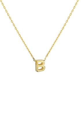 Gimora B Initial Necklace Kolye