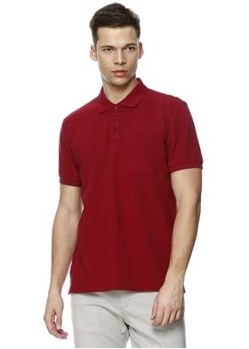 Limon Company Bordo Polo Yaka Basic T-Shırt