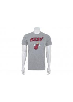 New Era Nba Top 6 Mıamı Heat Lıght Grey Heather Erkek T-Shirt