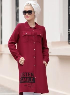 Selma Sarı Design Selen Tunik - Bordo