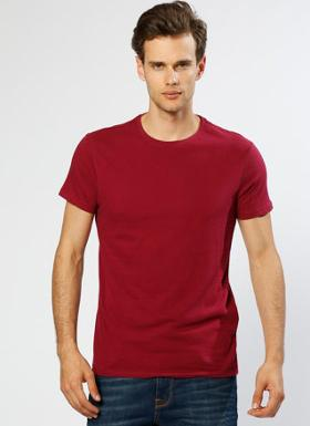 Loft Basic Bordo T-Shırt