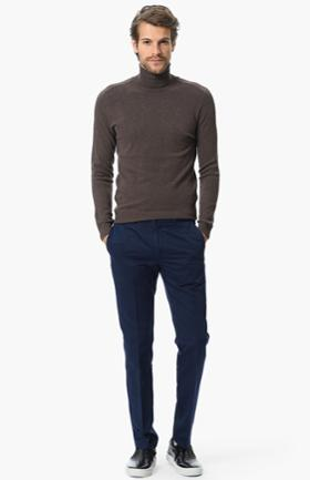 Network Lacivert Slim Fit Pantolon