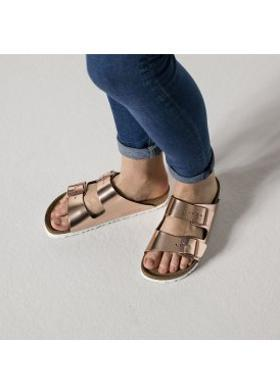 Birkenstock Arizona Soft Footbed Metallic Cooper