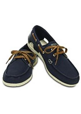 Crocs Beach Line Boat Lace-up - Navy-Stucco