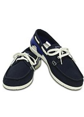 Crocs Beach Line Boat Lace-up - Navy-White