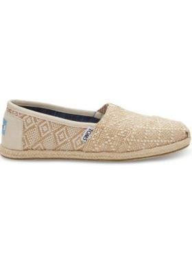 Toms Natural Woven Rope Sole Women Alpargata