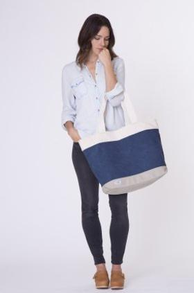 Toms Natural Printed Canvas Tote