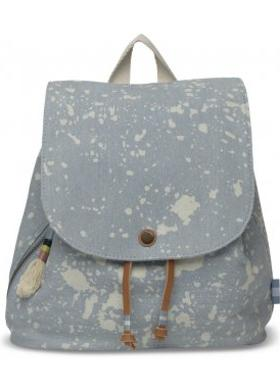 Toms Pale Blue Splatter Deni Backpack