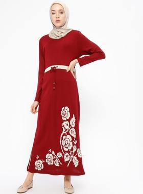 Veteks Line Triko Tunik - Bordo