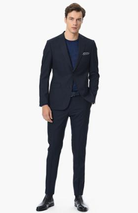 Network Slim Fit Lacivert Takim Elbise