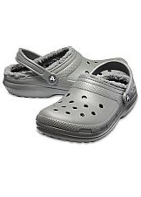 Crocs Classic Lined Clog - Slate Grey-Smoke