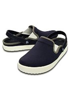 Crocs CitiLane Canvas Clog - Navy-White