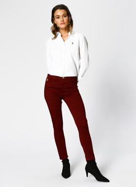 U.S Polo Assn. Skinny Bordo Pantolon