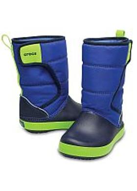 Crocs LodgePoint Snow Boot Kids - Blue Jean-Navy