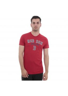 New Era Mlb Arched Tee Boston Red Sox Scarlet Erkek T-Shirt Kırmızı