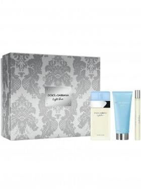 Dolce & Gabbana Light BLue Bayan Parfüm Seti EDT 100ML Bc 100ML Ts 10ML Xmas18