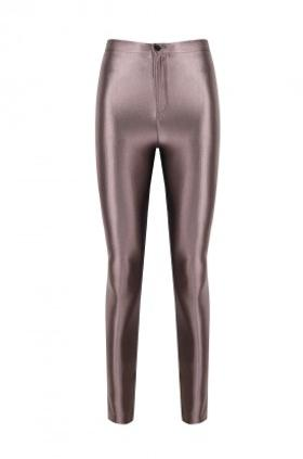 ANAİS MARGAUX paris Cecile Taupe Shiny Pants
