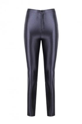 ANAİS MARGAUX paris Cecile Anthracite Grey Shiny Pants